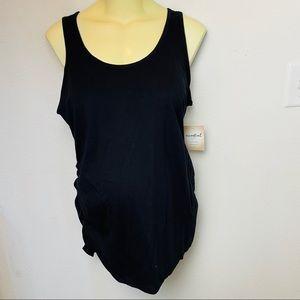a:glow Maternity Black Tank Top Shirt